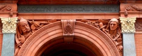 Brooklyn, Brooklyn Historical Society, Guides Association of New York City, George B. Post, Olin Levi Warner, Michelangelo, Beethoven, Gutenberg, Shakespeare, Columbus, Benjamin Franklin