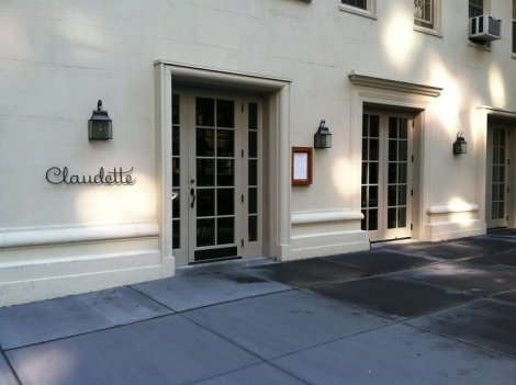 Claudette, French restaurant, Provençe, Dinner, Fifth Avenue, Greenwich Village