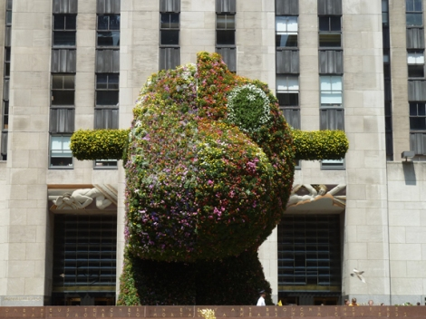 Jeff Koons, Rockefeller Plaza, Rockefeller Center, 30 Rock, Split-Rocker, Whitney Museum of American Art, Topiary