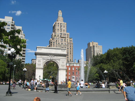 Five Squares & a Circle Tour, Greenwich Village, Washington Square Park, Washington Arch, Washington Square Fountain, One Fifth Avenue, New York University, New York City