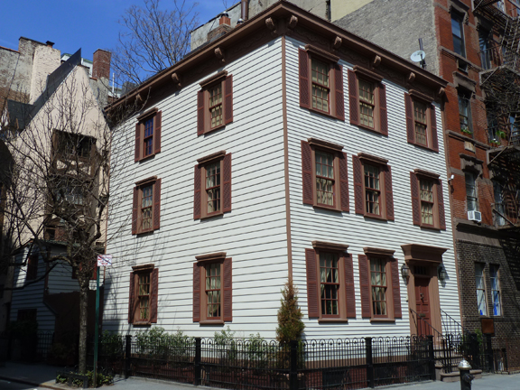 Oldest wood-frame house, 17 Grove St., Greenwich Village