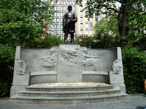 Five Squares & a Circle Tour, Flat Iron Building, Madison Square Park, New York, Admiral David Farragut, Augustus St. Gaudins