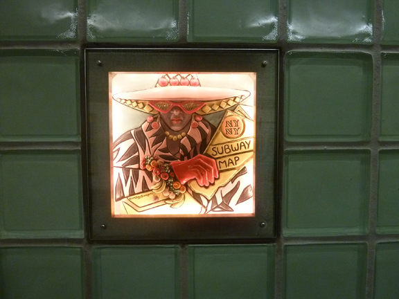 Walk About New York, Subway Art Tour, New York, Mosaics, #artsfortransit