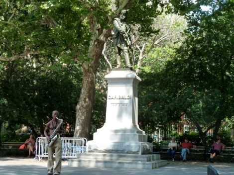 Watercolors, Washington Square Park, Greenwich Village, Painting, En plein air, Washington Arch, Stanford White, Saxophone, Greenwich Village Walking Tour, New York University, Stanford White, Giuseppe Garibaldi