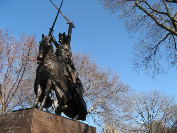 Central Park, King Jagiello Monument, New York, Poland, Lithuania, Swords, Horse