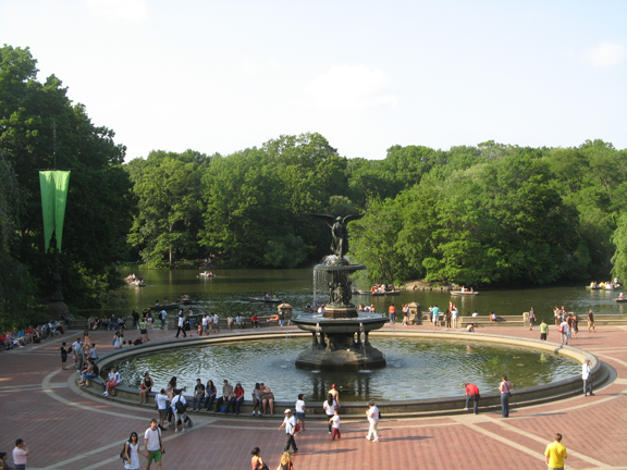 Central Park, Bethesda Fountain, Emma Stebbins, New York