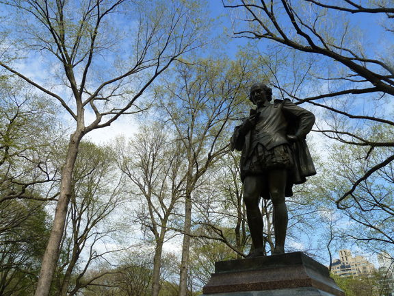Photo 2. Central Park's William Shakespeare, Literary Walk, Central Park, New York