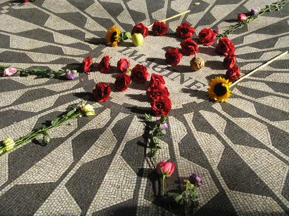 Imagine, Mosaic, Central Park, Strawberry Fields, John Lennon, New York, Yoko Ono