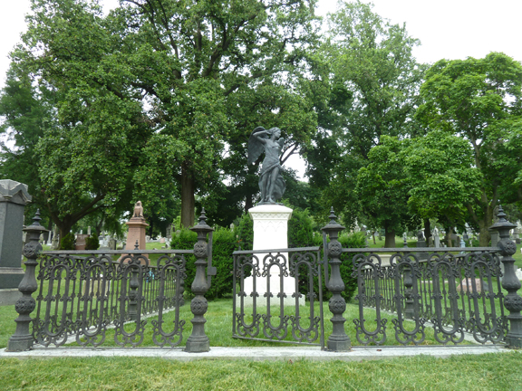 Green-Wood Cemetery, Brooklyn, Gay Graves, Gothic Gates, Richard Upjohn, Leonard Bernstein, Louis Moreau Gottschalk, Violet Oakley, Emma Stebbins, Fred Ebb, Hiking Tour, LGBT, National Historic Landmark, Gay, Graves, Paul Jabara,