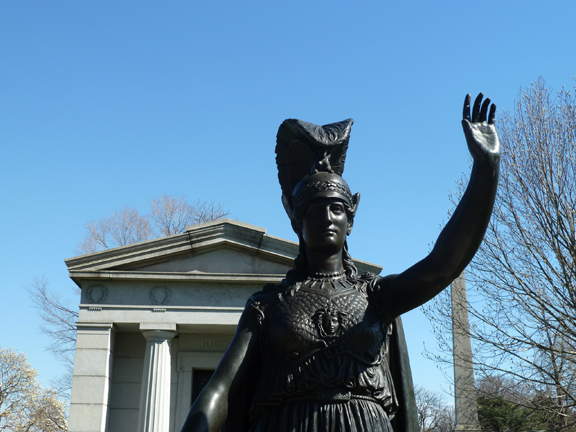 Photo 4. Who is the goddess Minerva waving to?
