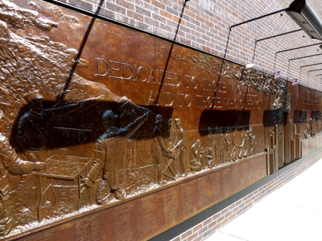 9-11, FDNY 9|11 Memorial Wall, Ground Zero, Bas-Relief, Bronze, Holland & Knight, Twin Towers, the Ten House, World Trade Center
