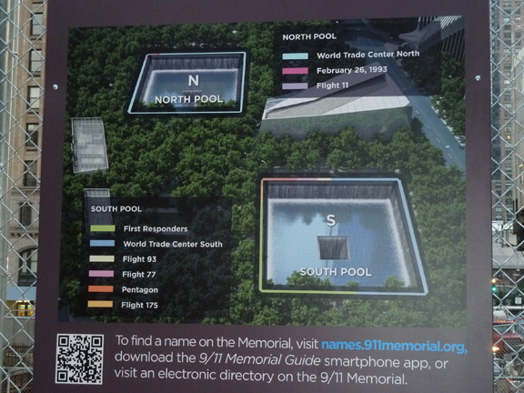 9/11 Memorial, Sign, Pools, Plaza, Trees