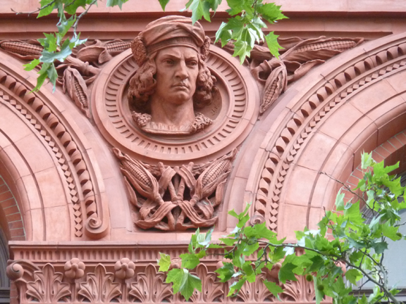 Brooklyn Historical Society, Brooklyn Heights, Christopher Columbus, Terracotta, Façade