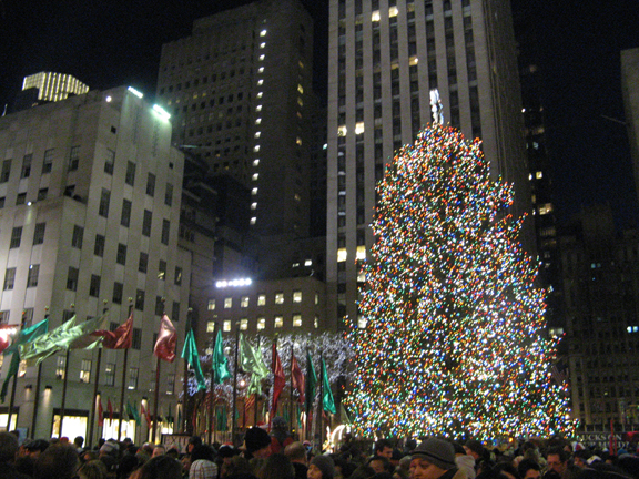 Christmas, Rockefeller Center Christmas Tree, Midtown Manhattan,