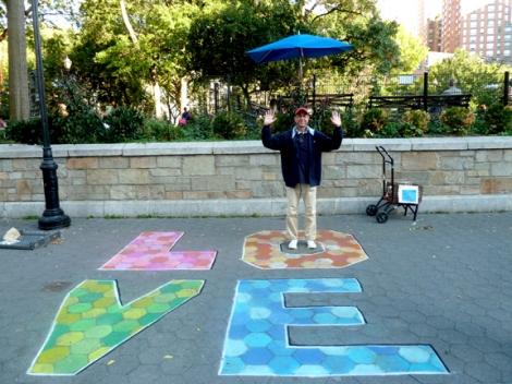 Chalk, Union Square, Five Squares and a Circle Tour, Union Square Park, New York City, Mark Panzarino, Mark Panz, Artist for Hire, Sidewalk, Pavement, Walking Tour