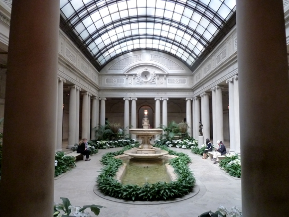 The indoor courtyard at the Frick Collection is a peaceful place.