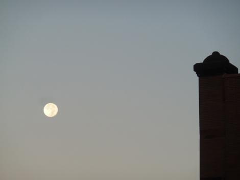 Full Moon, October 2014, Hunter's Moon, Blood Moon, Greenwich Village, New York