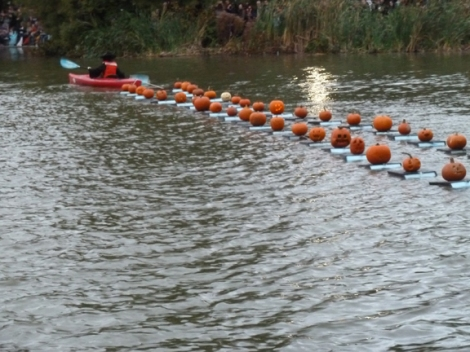 Central Park, Pumpkins, Central Park Conservancy, Halloween, Jack O' Lantern, Pumpkin Flotilla, Kayak, Harlem Meer, Witch