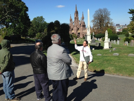 Gay Graves Tour, Green-Wood Cemetery, Entry Gate, Richard Upjohn, Victorian Gothic, Gothic Revival, Neo-Gothic, Spires, Brownstone, Grave, Sandstone