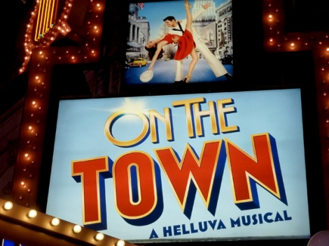 On the Town, Broadway Musical, Lyric Theater, Apollo Theater, Leonard Bernstein, Broadway Revival, Alfred Green, Betty Comden, Star Spangled Banner, New York New York