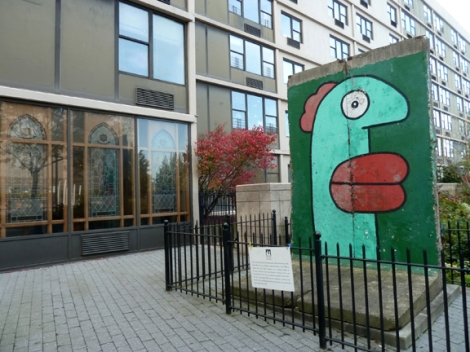Berlin Wall, Battery Park City, Thierry Noir, 25th anniversary, East Germany, West Germany, 15th anniversary, Monsignor John J. Kowsky Plaza, New York City