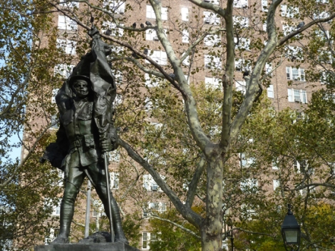 World War I, Armistice Day, Doughboy, Veterans Day, November 11th, Philip Martiny, the Great War, the War to End All War, Greenwich Village, Abingdon Square Park, Gold Star Moms, Alfred E. Smith, 1914