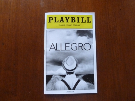 Allegro, muscial, Rodger and Hammerstein, Oscar Hammerstein II, Richard Rodgers, Classic Stage Company, Off Broadway, Broadway
