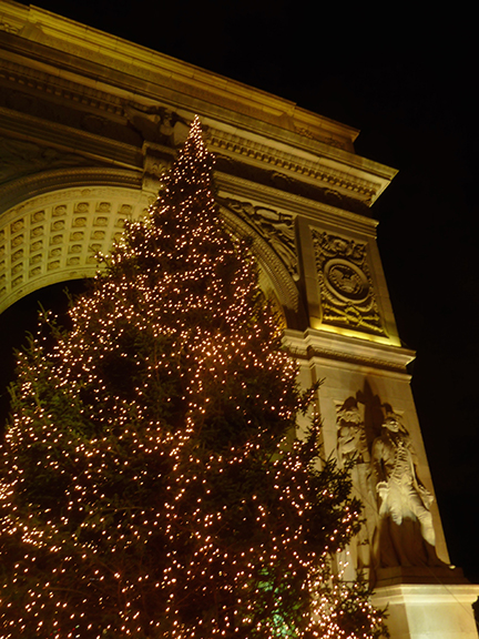 Christmas Tree, Greenwich Village, Washington Square Park, Washington Arch, Rockefeller Center, Tree Lighting Ceremony, Christmas Tree Tradition
