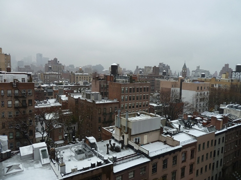 Water Tank, New York City, Roof, Snow, Skyline, Wood, Water, Tank