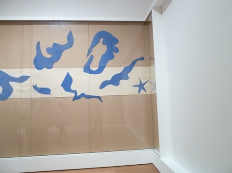 Henri Matisse, MoMA, Museum of Modern Art, Cutouts, Colorful, Abstract, French, Art Exhibit, New York, Divers, Swimming Pool, Blue, Tan
