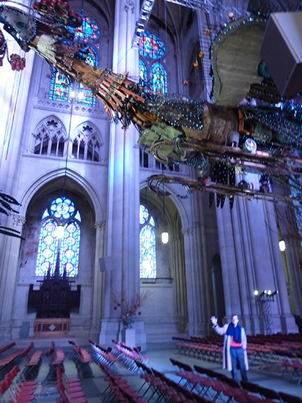 Xu Bing, St. John the Divine, Phoenix, Feng, Huang, Cathedral, China, New York, Birds, Nave, Gothic Revival, Junk