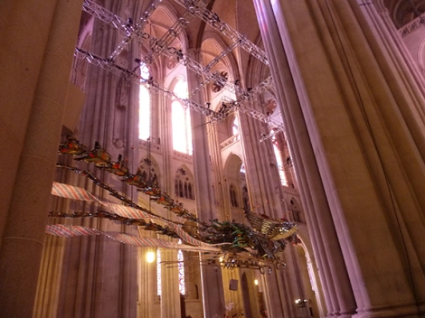 Xu Bing, St. John the Divine, Phoenix, Feng, Huang, Cathedral, China, New York, Birds, Nave, Gothic Revival, Junk, Art