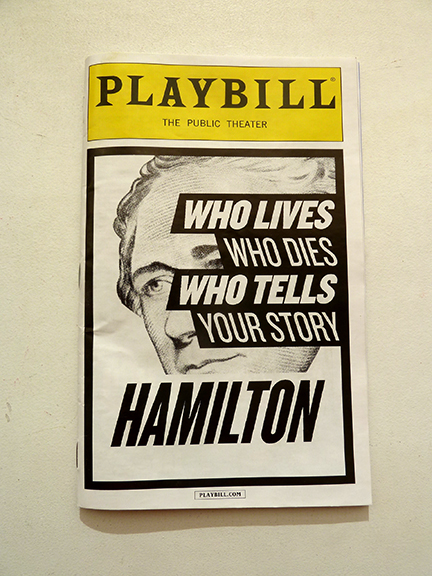 Alexander Hamilton, Aaron Burr, rap, Public Theater, George Washington, Thomas Jefferson, Eliza Hamilton, Broadway, Off-Broadway, Morris-Jumel Mansion, Lin-Manuel Miranda, Tony Award, Grammy Award, Duel, New York