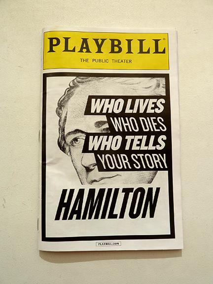 Alexander Hamilton, Aaron Burr, rap, Public Theater, George Washington, Thomas Jefferson, Eliza Hamilton, Broadway, Off-Broadway, Morris-Jumel Mansion, Lin-Manuel Miranda, Tony Award, Grammy Award, Duel, New York