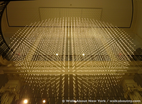 Museum of the City of New York, Starlight, Hanging Grid 2, New York City, Fifth Avenue, Light, sculpture, LED,