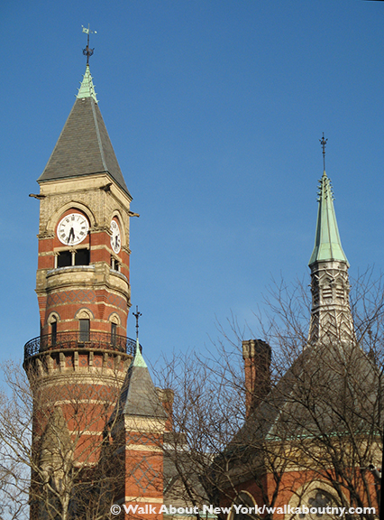 Jefferson Market Library, New York, Greenwich Village, Third Judicial District Courthouse, Calvert Vaux, Victorian Gothic, Henry Thaw, Murder Trial, Stanford White, Evelyn Nesbit, Ada Louise Huxtable, clock tower
