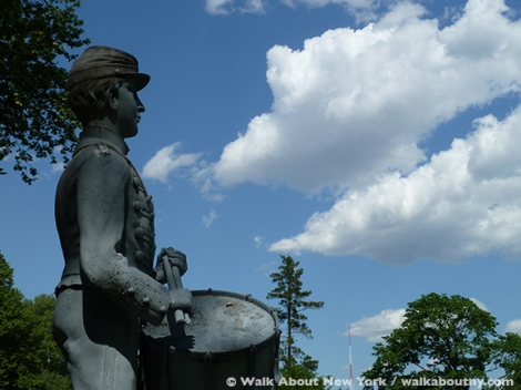 Green-Wood Cemetery, Brooklyn, Clarence McKenzie, Civil War, Drummer Boy, Zinc, Gay Graves Tour, Memorial Day,