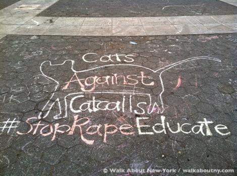 #stoprapeeducate, Washington Square, New York University, Chalk, Rape, Message, Park, Student., NYU