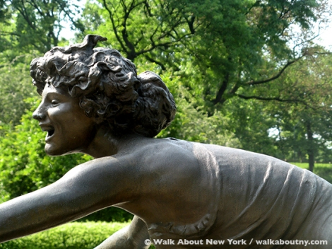 Central Park, Conservatory Garden, Samuel Untermyer, Yonkers, Untermyer Gardens, Untermyer Fountain, Three Dancing Maidens, Hitler, Bronze, Sculpture