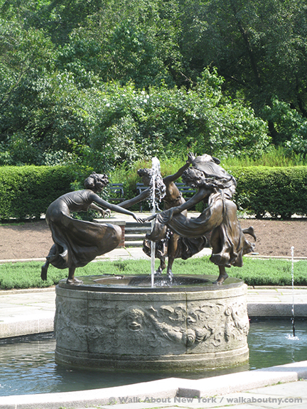Central Park, Conservatory Garden, Samuel Untermyer, Yonkers, Untermyer Gardens, Untermyer Fountain, Three Dancing Maidens, Hitler, Bronze, Sculpture
