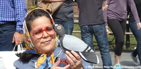 Pigeons, Tina Trachtenburg, Washington Square, Union Square, Felt, Sculptural Art, Rats with Wings, Rats