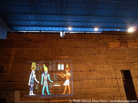 Walk About New York, Temple of Dendur, Metropolitan Museum of Art, MMA, Color, Jacqueline Kennedy Onasis, the Met, MediaLab, Caesar Augustus, Egypt, Hathor, Horus, Egyptian