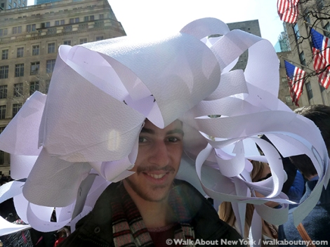 New York Easter Parade White Paper Hat