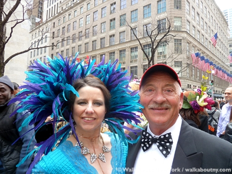 New York Easter Parade Dressed-Up Couple