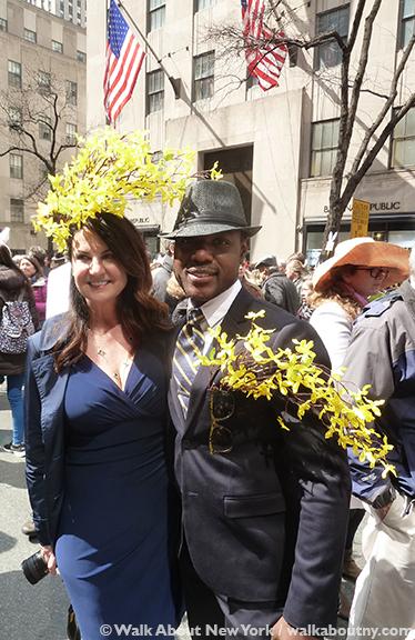 New York Easter Parade Forsythia Hat