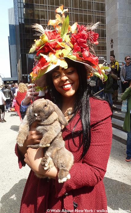 New York Easter Parade Live Bunny
