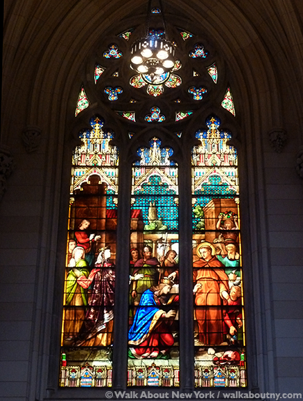 St Patricks Cathedral Fifth Avenue New York Stained Glass Windows Gothic