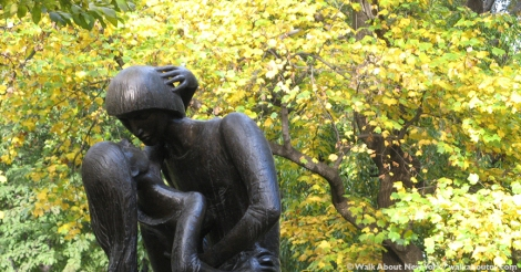 William Shakespeare, Central Park, Delacorte Theater, Romeo and Juliet, Central Park Walking Tour, Milton Hebald, George Delacorte, 400th anniversary