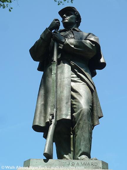 Seventh Regiment Memorial, John Quincy Adams Ward, Richard Morris Hunt, Central Park, Central Park Walking Tour, Memorial Day, Civil War,