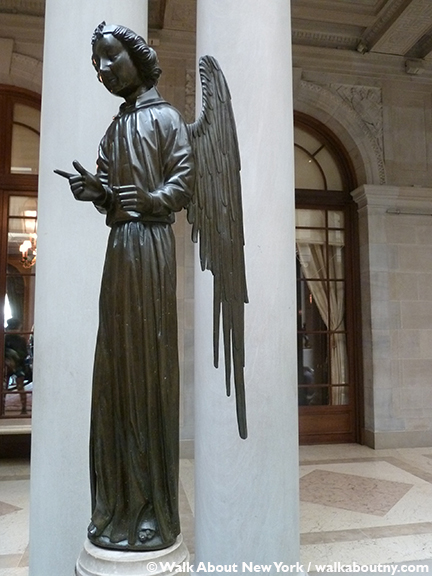 The Frick Collection, Henry Clay Frick, Art, Painting, Fifth Avenue, Specialty Tours, New York, Walk About New York, Bronze, Angel